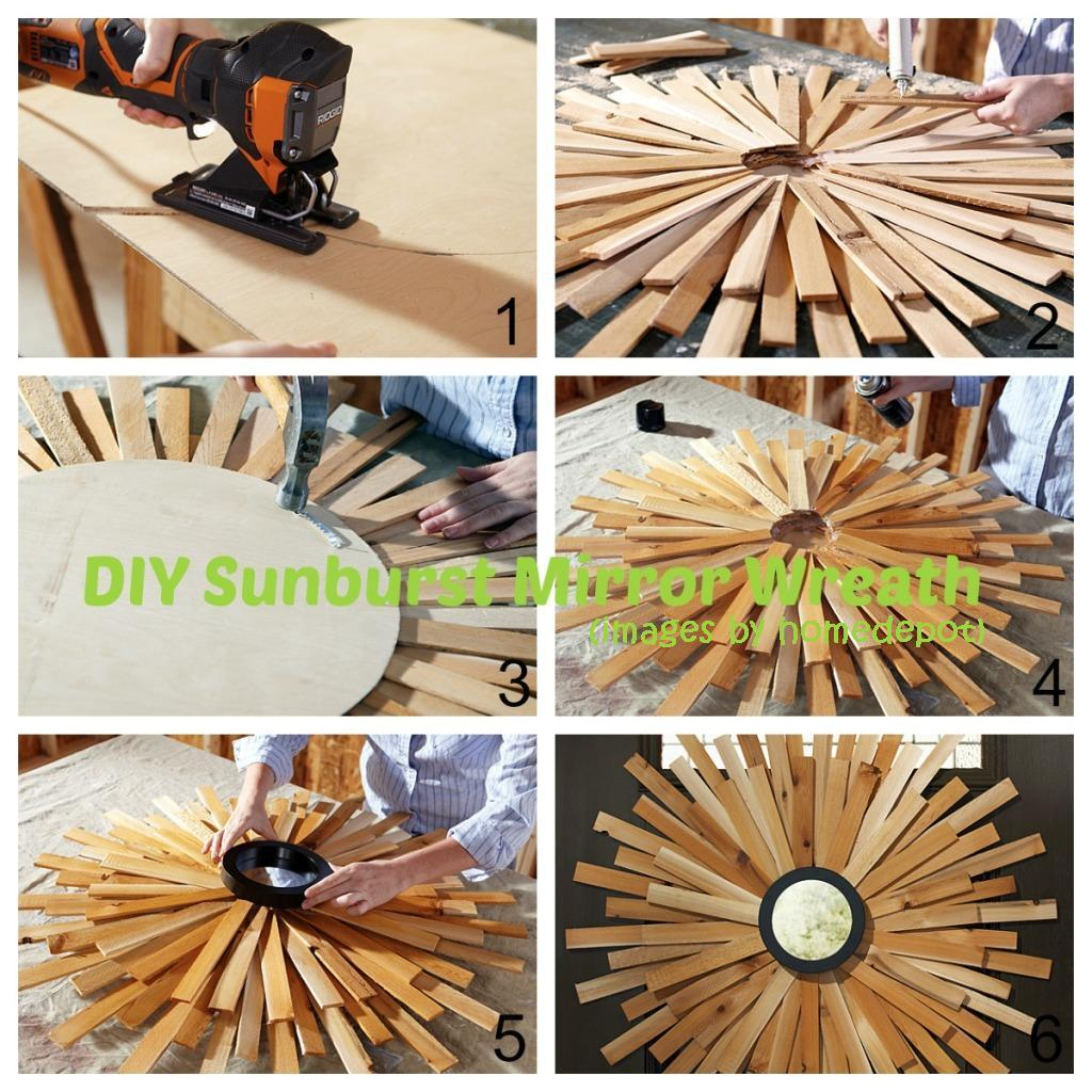 Sunburst Mirror Wreath