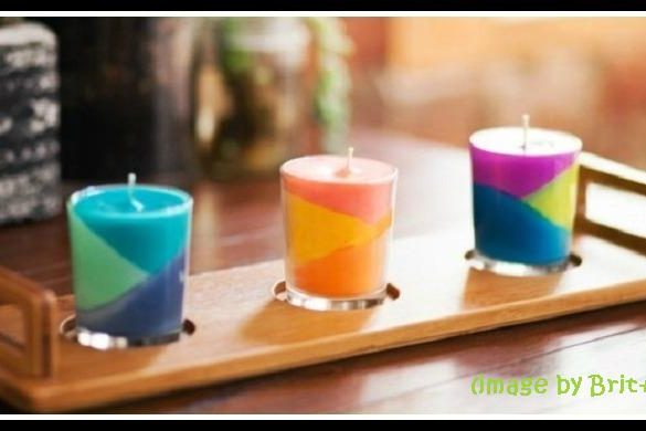 Color Block Candles