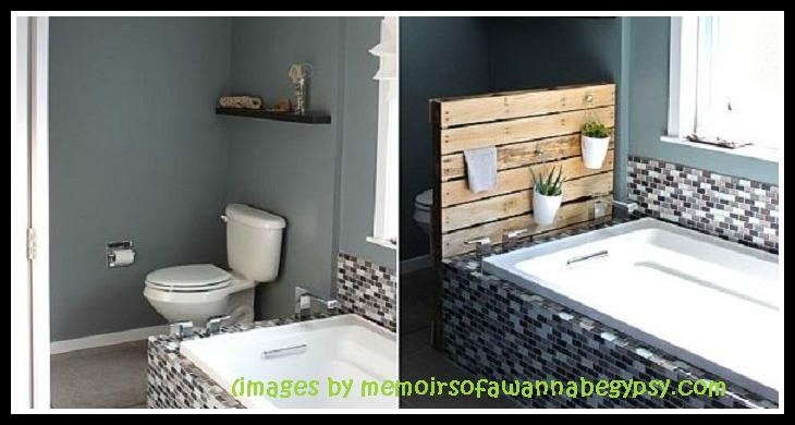 Rustic Bathroom Shelf System and Planter Stand