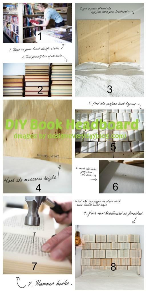 Book Headboard Diy Home Tutorials