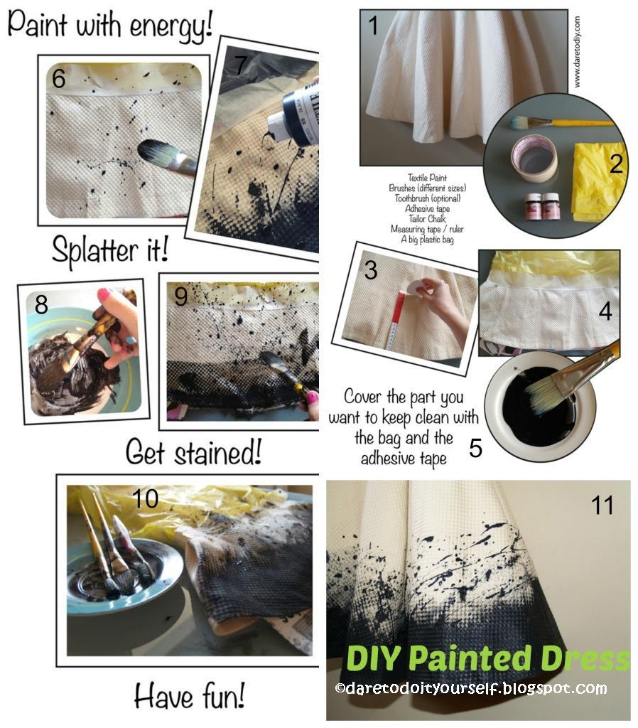 DIY Painted Dress