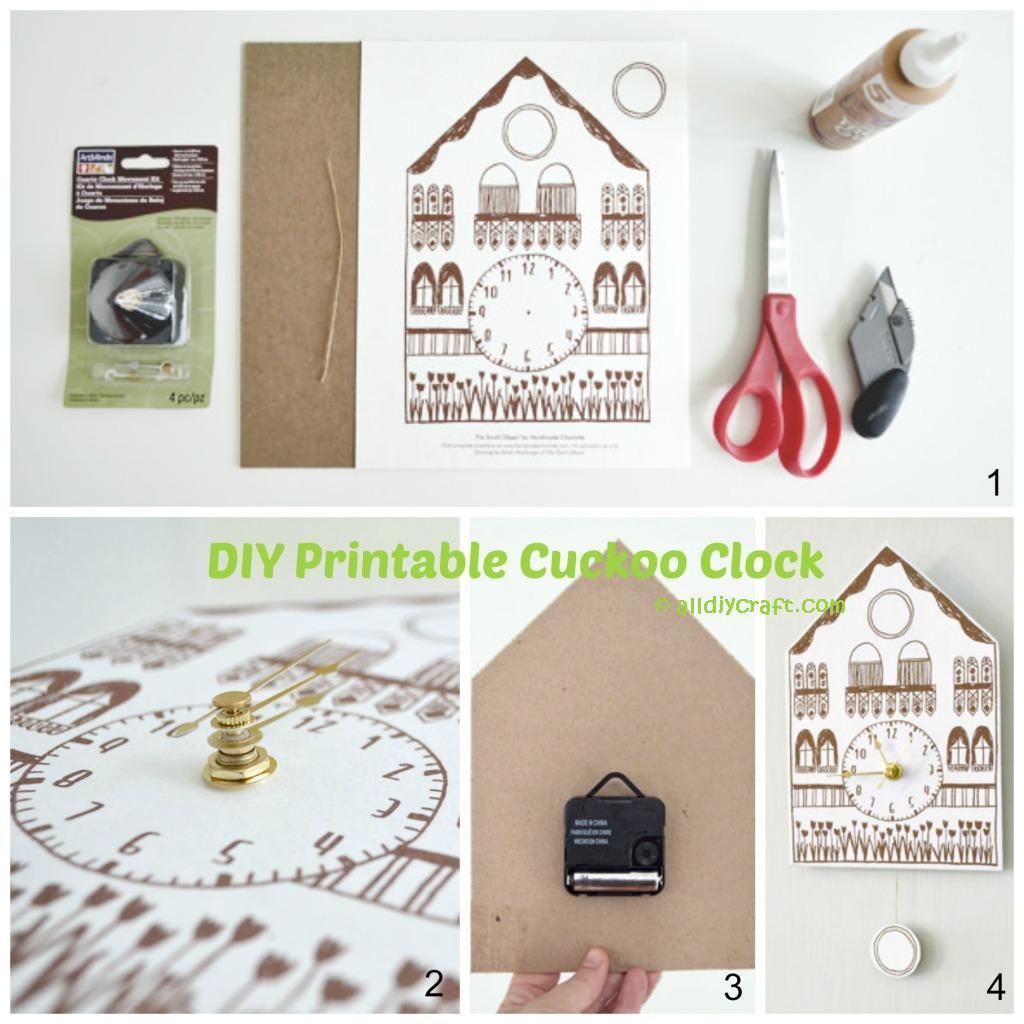 Printable Cuckoo Clock