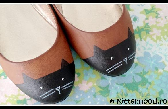 DIY Painted Cat Shoes