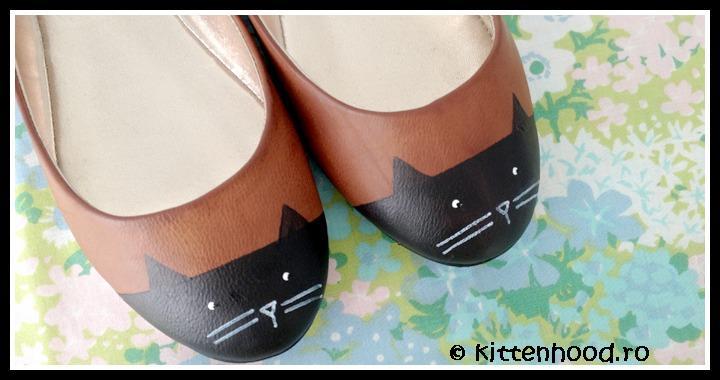 DIY Painted Cat Shoes
