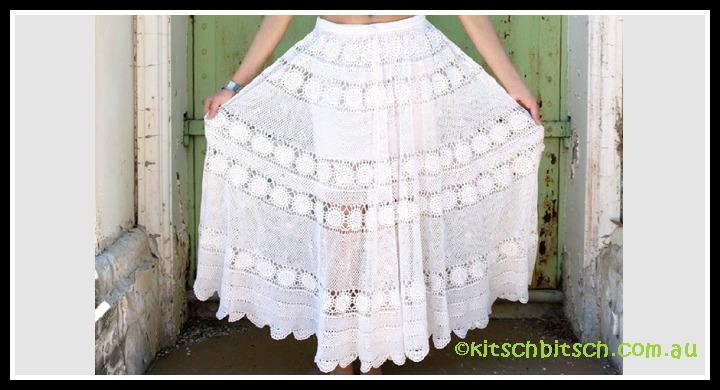 Crochet lace gypsy skirt
