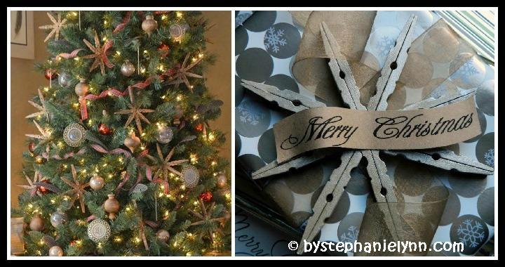 Clothespin Snowflakes DIY