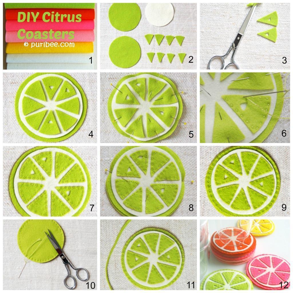 DIY Citrus Coasters Tutorial