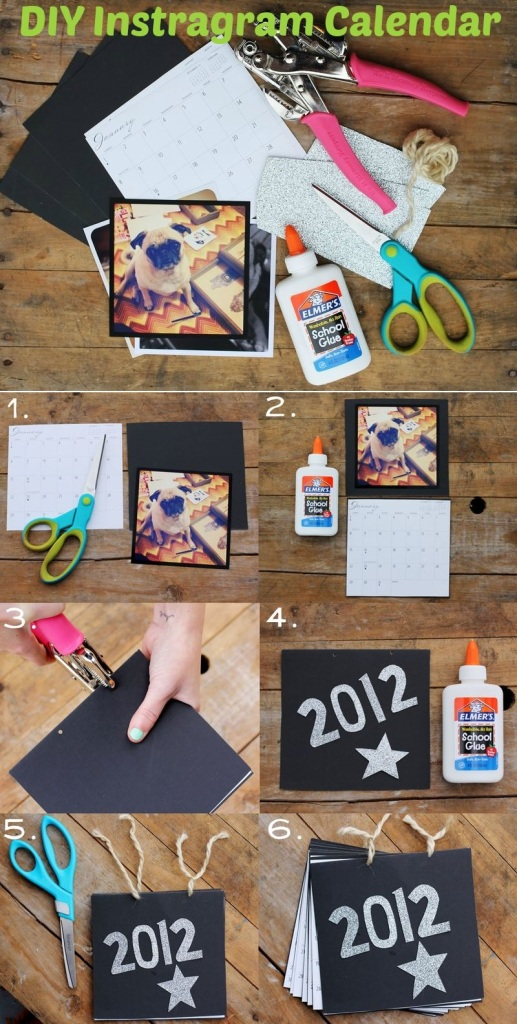 DIY Instagram Calendar Tutorial