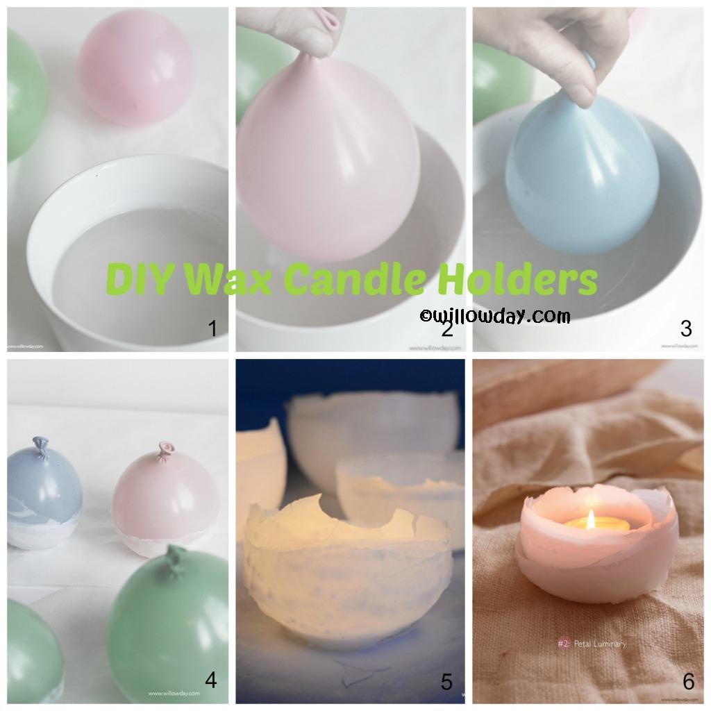 DIY Wax Candle Holders Tutorial