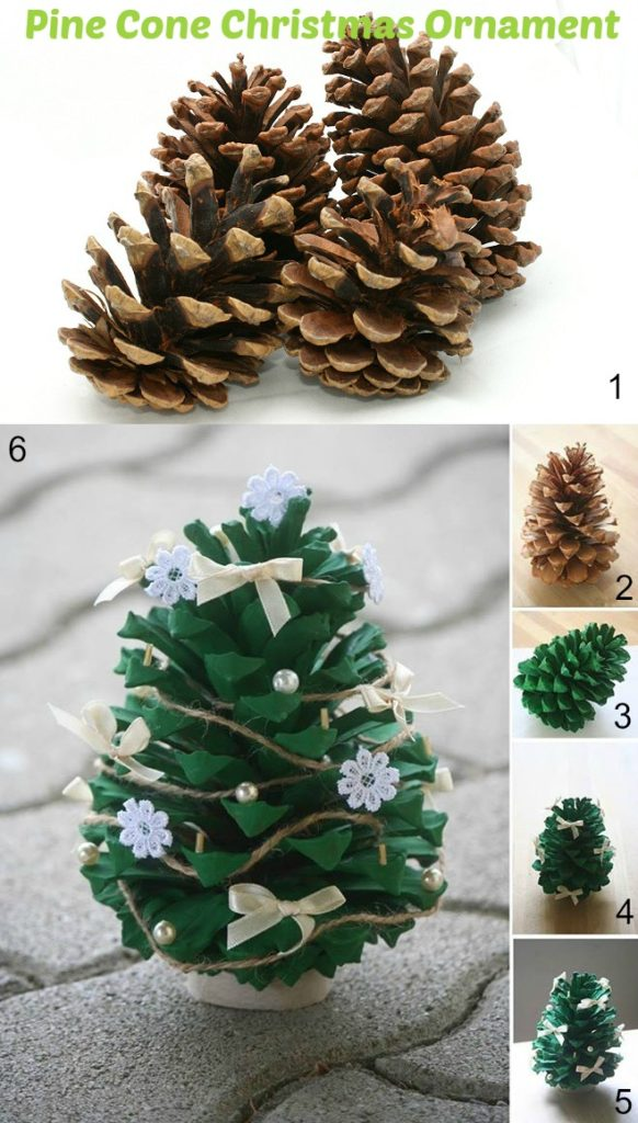 Pine Cone Christmas Ornament DIY