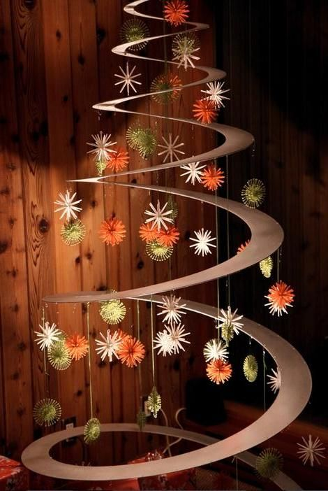 Swirl Christmas Tree DIY Tutorial