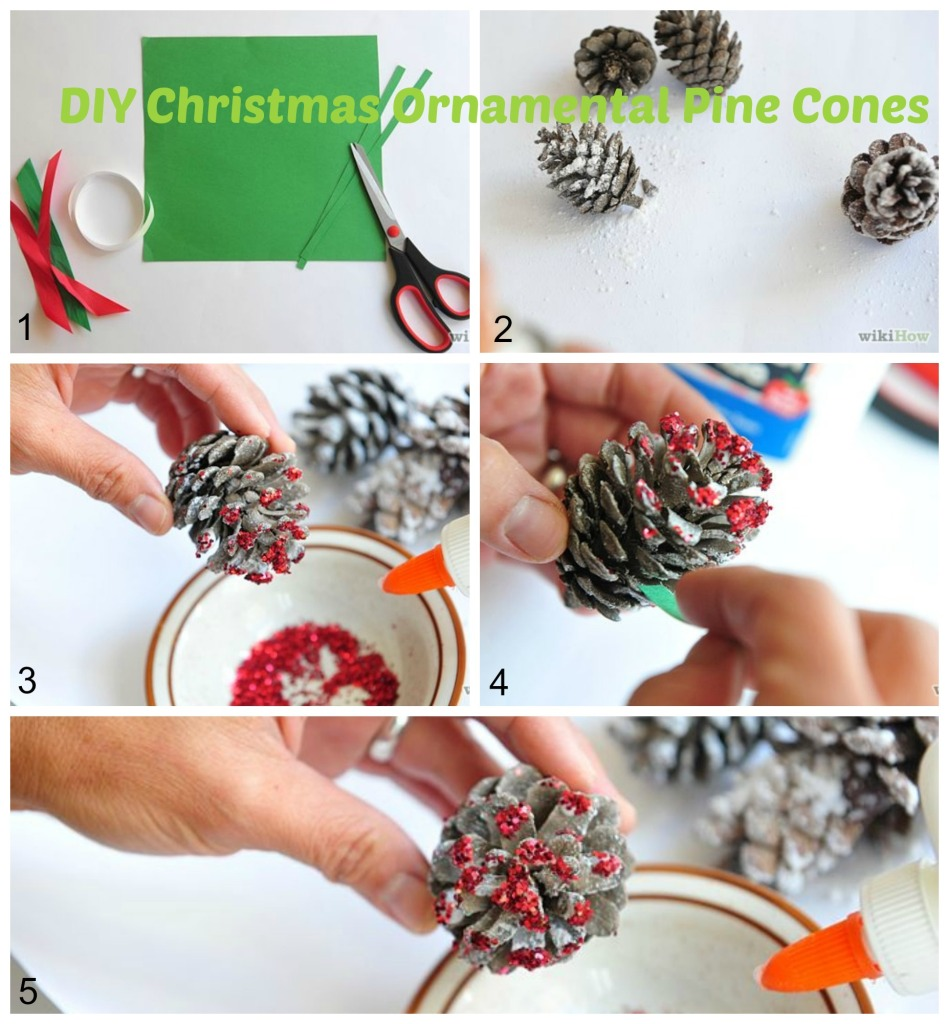Christmas Ornamental Pine Cones DIY