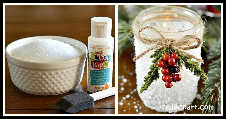 Christmas Snow Mason Jar DIY Tutorial