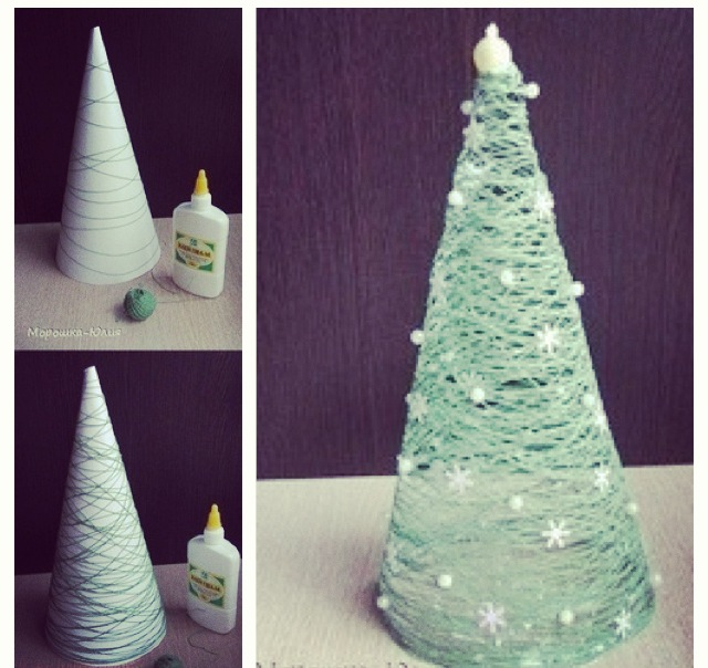 String Christmas Tree DIY Tutoral