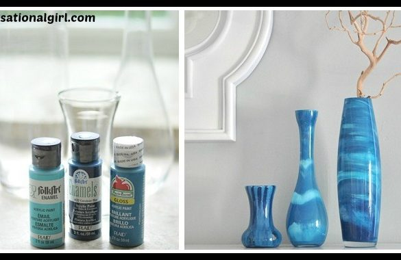DIY Paint Swirl Vases Tutorial