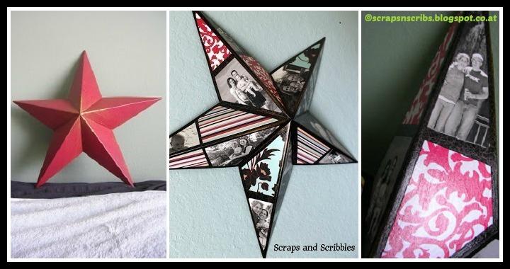 DIY Photo Collage Star Tutorial