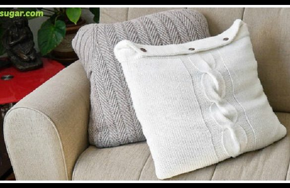DIY Sweater Pillows Tutorial