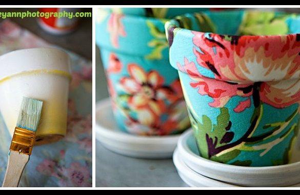 DIY Upcycled Vase using Fabric Tutorial