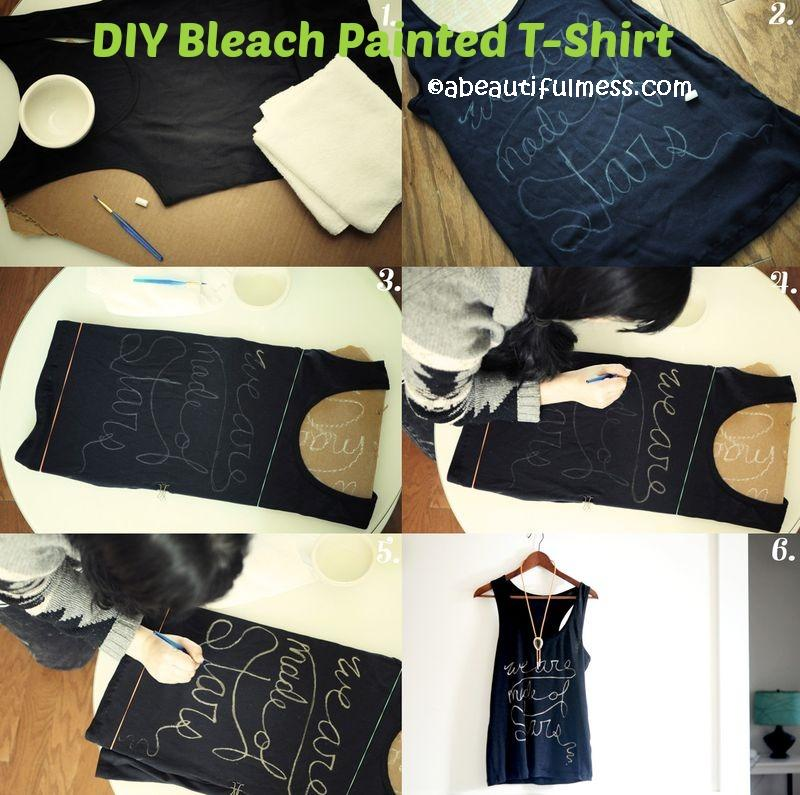 How to make a Bleach Painted T-Shirt
