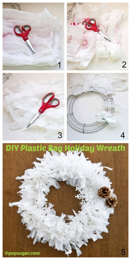 How to make a Plastic Bag Holiday Wreath