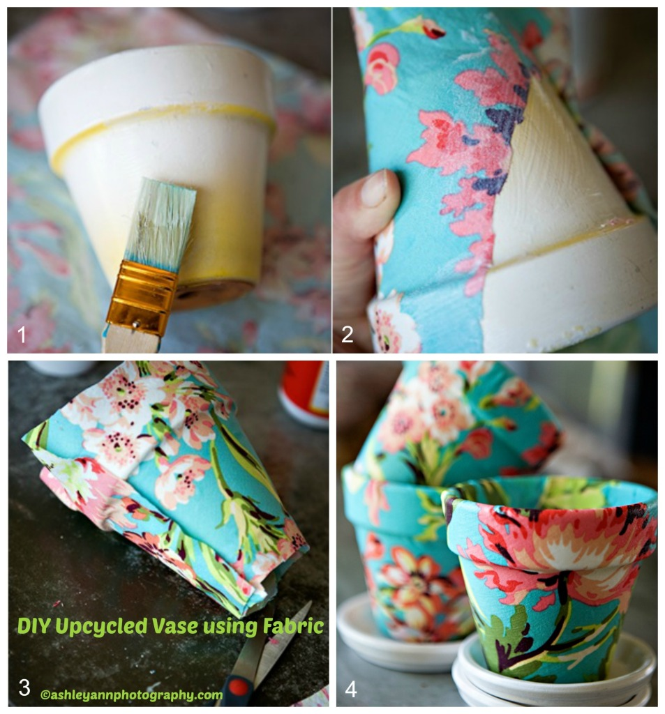 How to make an Upcycled Vase using Fabric
