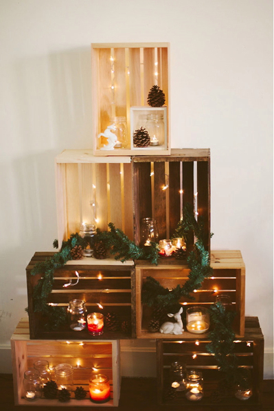Crate Christmas Tree DIY Tutorial