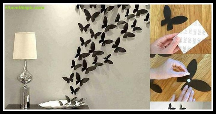 DIY Butterflies Wall Art Tutorial