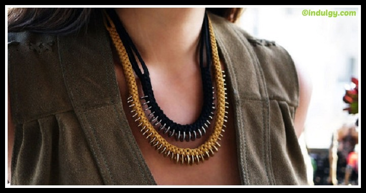 DIY Leather Necklace Tutorial