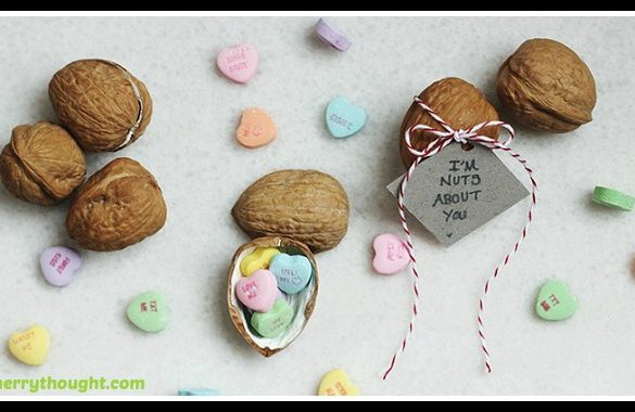 DIY Walnut Valentine Tutorial