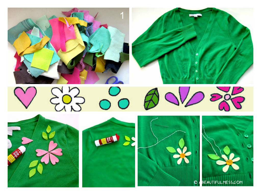 Spring Flower Cardigan DIY Tutorial