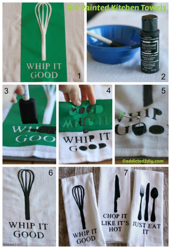 How to create Painted Kitchen Towels