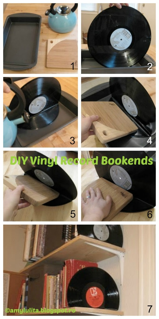 How to make Vinyl Record Bookends