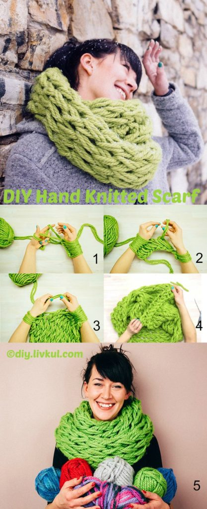 How to make a Hand Knitted Scarf