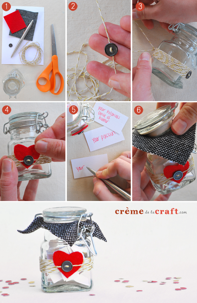 How to make a Valentine Love Jar