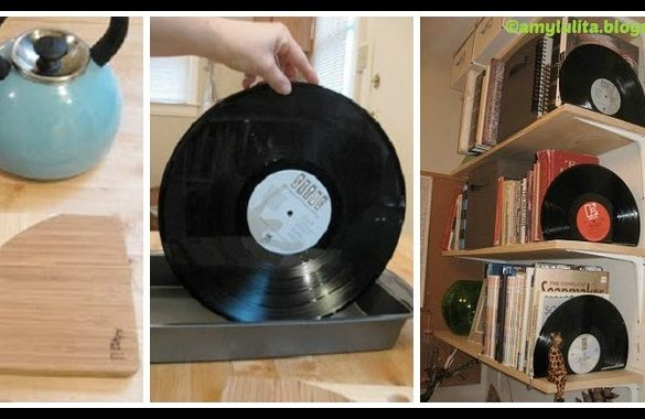 Vinyl Record Bookends DIY Tutorial