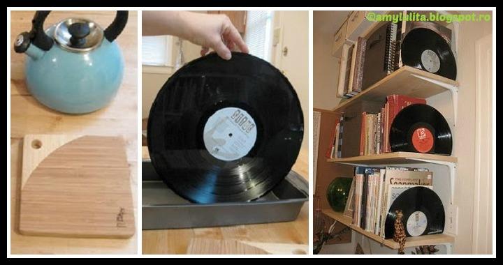 Vinyl Record Bookends DIY Tutorial