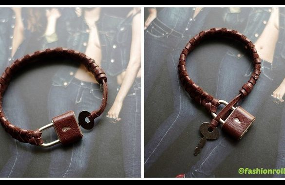 DIY Braided Padlock Bracelet Tutorial
