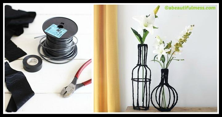 DIY Decorative Wire Vases Tutorial