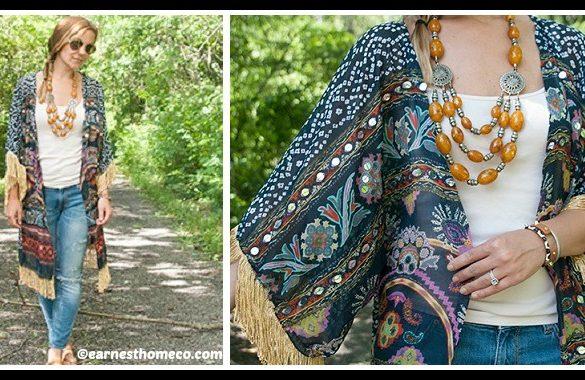 DIY Kimono from Scarf Tutorial