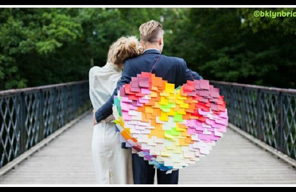 DIY Post It Heart Pinata Tutorial