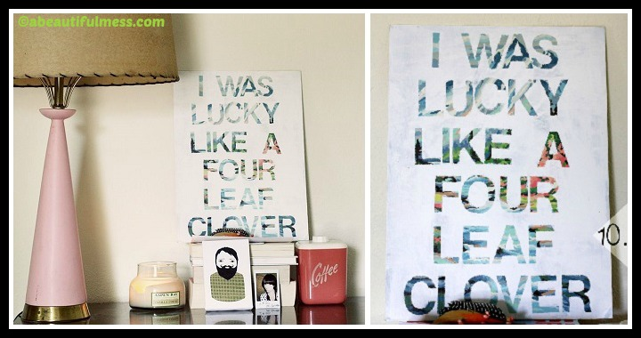 DIY Song Lyrics Wall Art Tutorial
