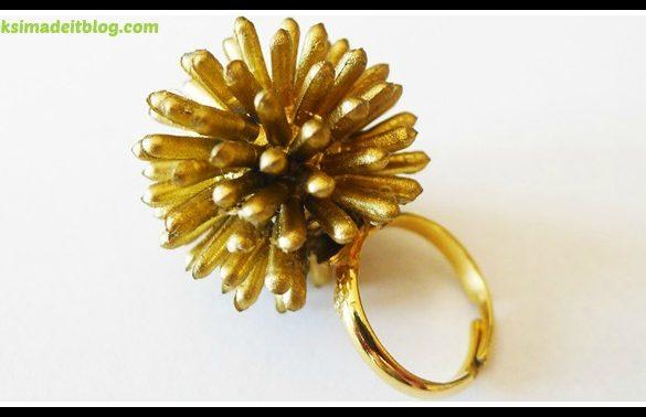 DIY Spiky Starburst Ring Tutorial