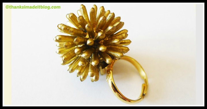 DIY Spiky Starburst Ring Tutorial