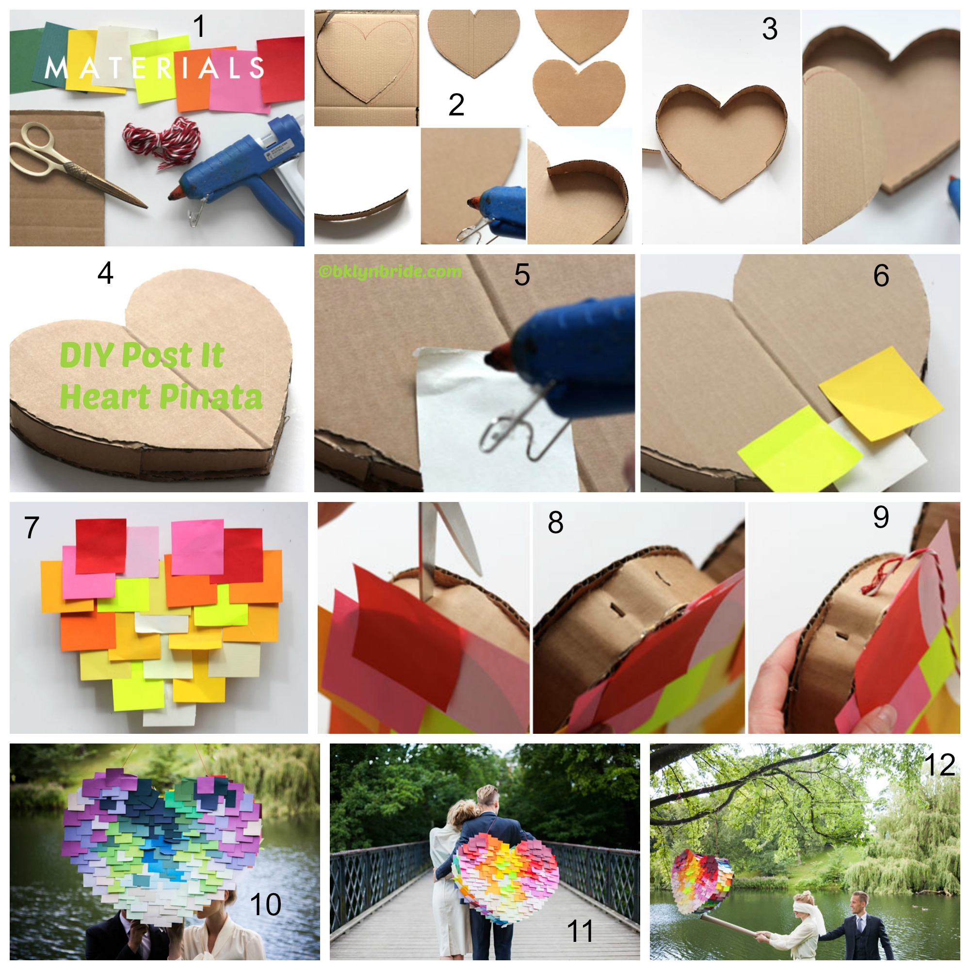 How to make a Post It Heart Pinata