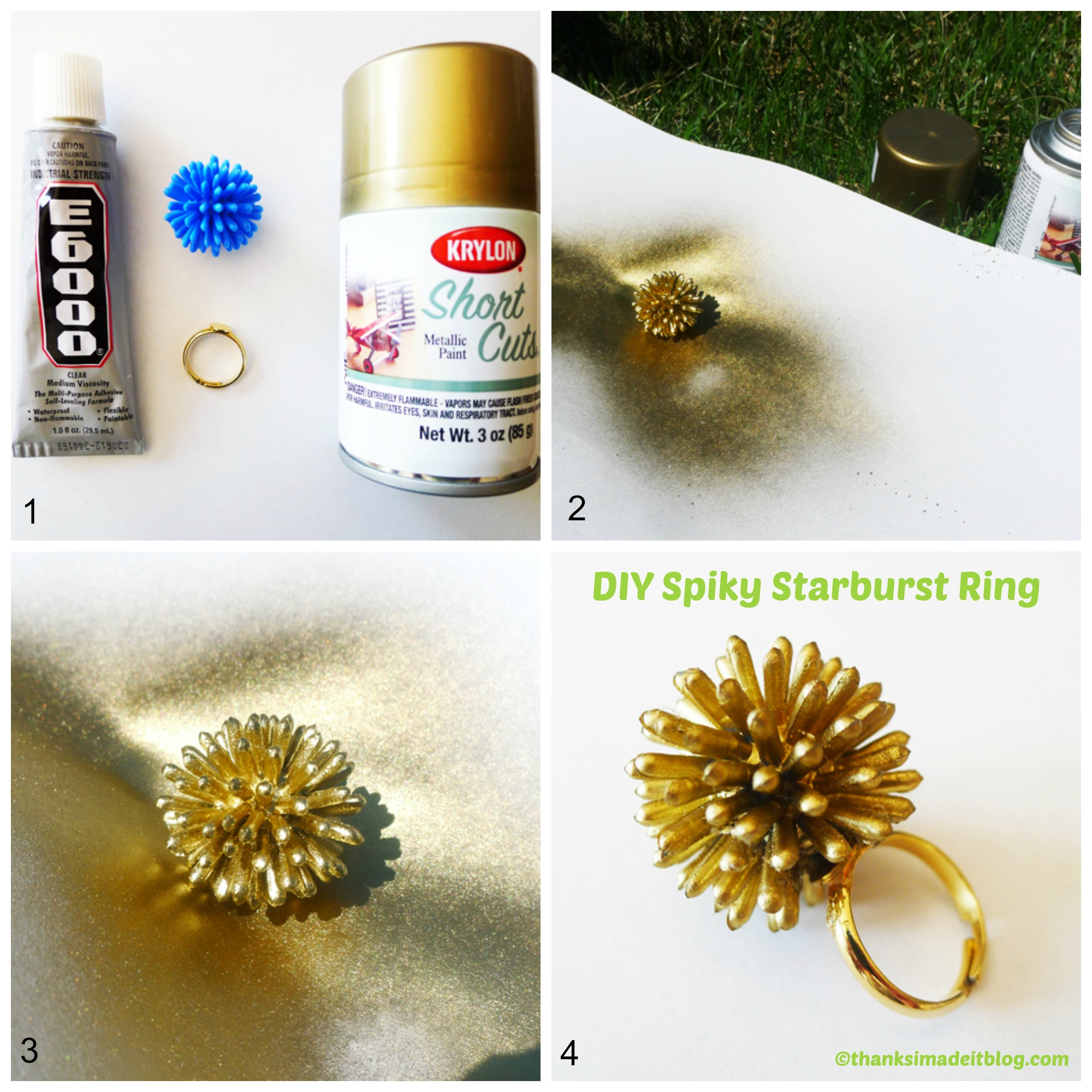 How to make a Spiky Starburst Ring