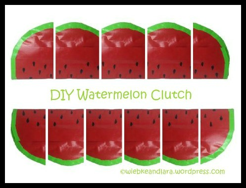 Watermelon Clutch DIY Tutorial