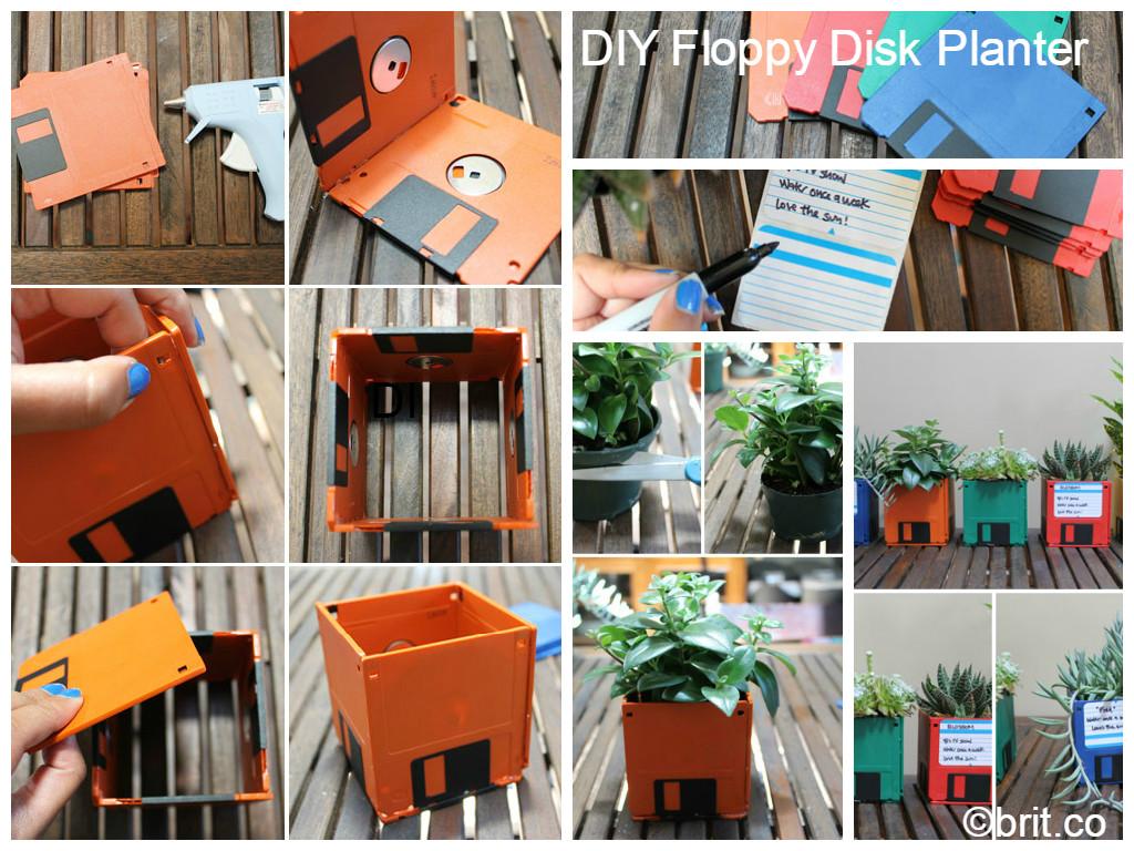 DIY Tutorial Floppy Disk Planter