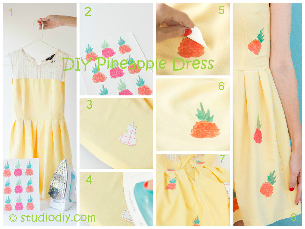 Pineapple Dress DIY Tutorial