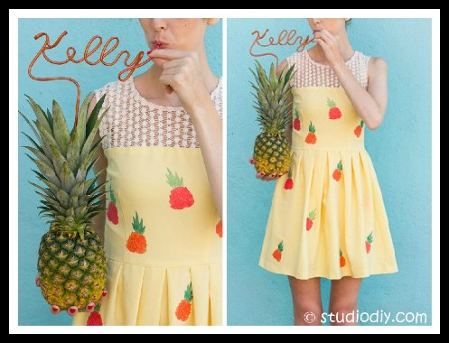 Pineapple Dress DIY Tutorial