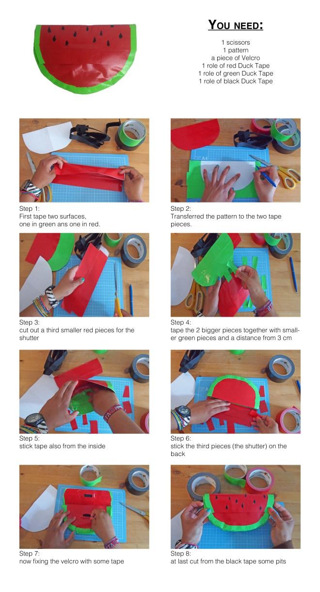 Watermelon Clutch DIY Tutorial